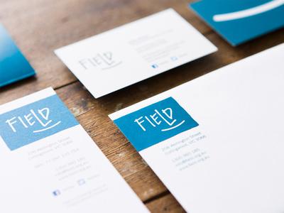 Field ~ identity and branding branding stationery logo