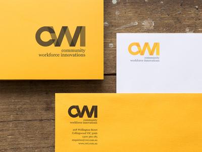 CWI ~ identity and branding education branding stationery logo