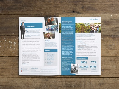 Empower ~ Newsletter corporate print design newsletter disability not for profit