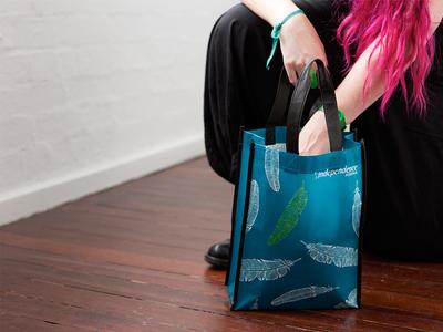 Independence Australia ~ Expo Bag merchandise branding design not-for-profit bag event