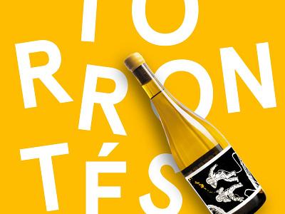 Torrontes - Les Astronautes - Label Design typography graphic design wine label vector branding design