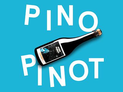 Pino Pinot  - Les Astronautes - Label Design vector logo label wine typography graphic design design branding