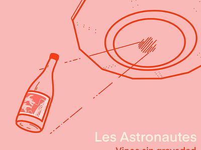 Les astronautes - illustration illustration typography label design logo branding graphic design