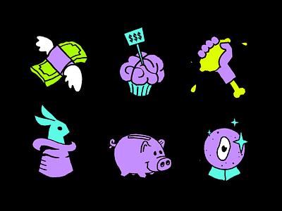 Animated Icons for Lemon.io cute blog illustration branding motion motion graphics animation illustration illustr lemon app mobile app blog icons web icons icons