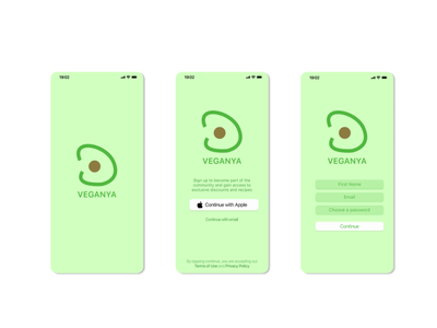 Daily UI 001: Sign-Up app design logo ui