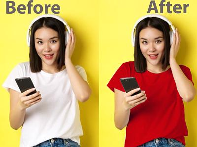 color change,recolor,color correction photo retouching color change color correction background removal graphic design
