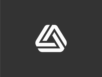Triangle Logo concept triangle icon line minimal logo