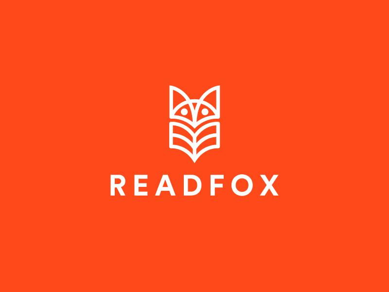 Readfox Logo icon line fox bookstore minimal logo