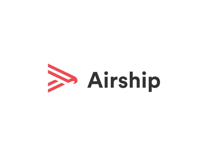 Airship Logo thick lines icon line minimal logo