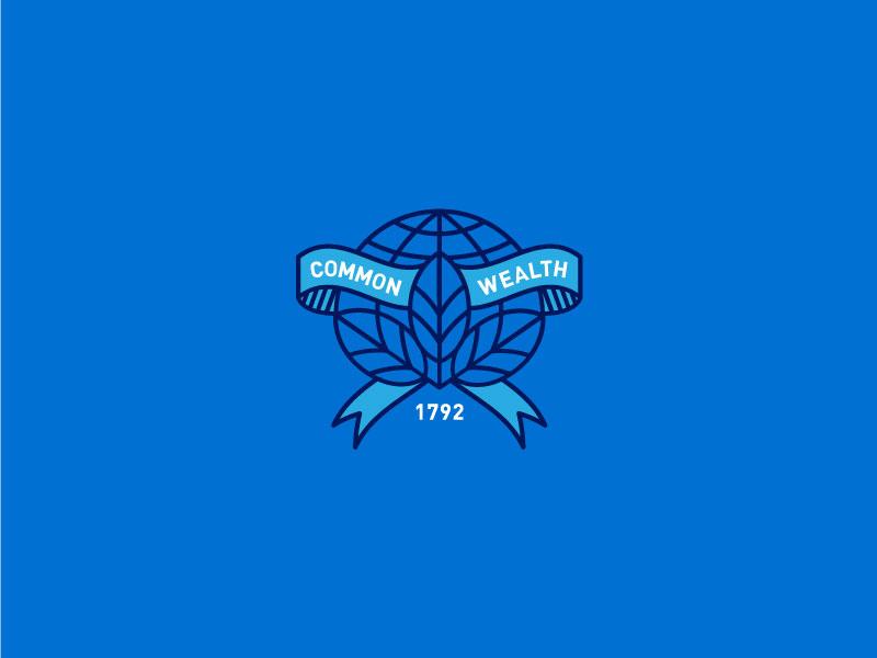Commonwealth Mark leaf earth commonwealth kentucky icon line minimal logo