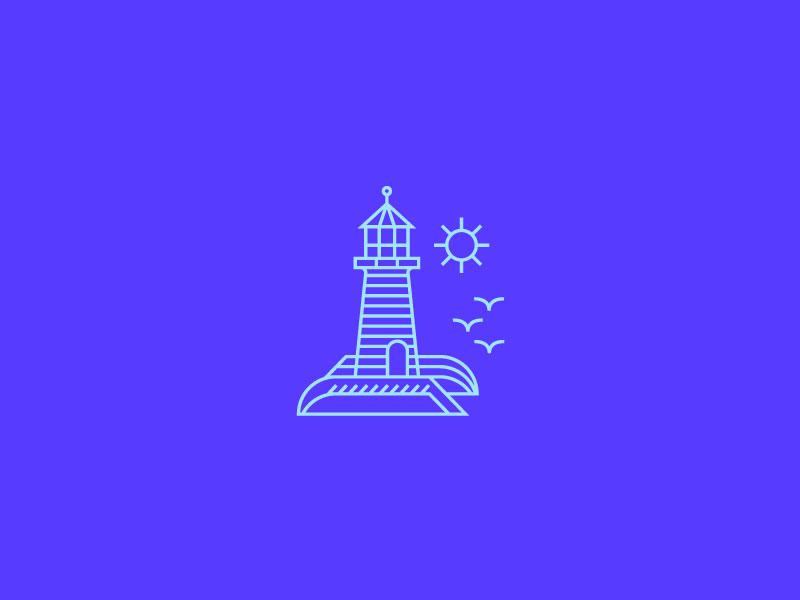 Lighthouse Icon minimal line art icon lighthouse