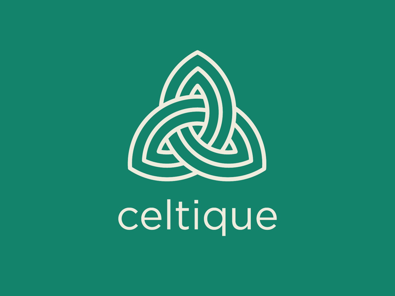 Celtique Logo minimal line icon retail store boutique irish celtic knot celtic logomark logo