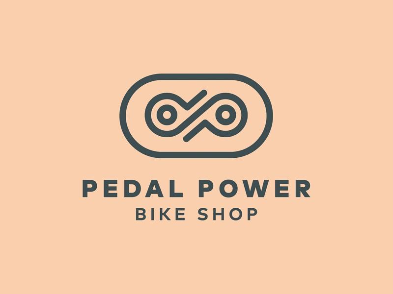 Pedal Power Bike Shop Logo shop bicycle bike kentucky lexington icon line minimal logo