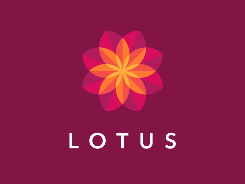 Lotus Logo garden flower lotus minimal logo