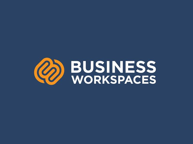 Business Workspaces logo work office monogram line icon minimal logo