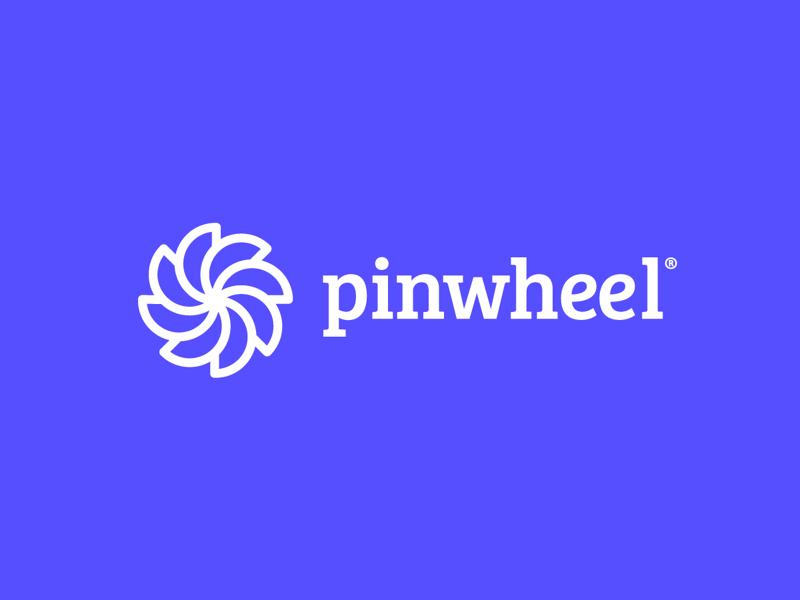 Pinwheel Logo app icon line branding minimal logo pinwheel