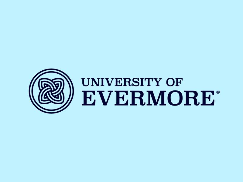 University of Evermore Logo minimal icon line celtic college university logo