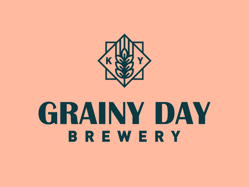 Grainy Day Brewery Logo minimal badge icon line logo kentucky beer brewery