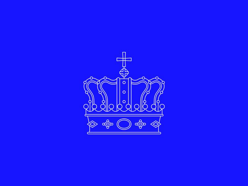 Crown Mark king royal crown icon line minimal logo