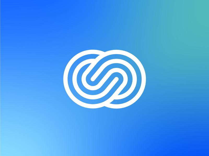 Cloud Mark app cloud line art illustration icon line minimal logo