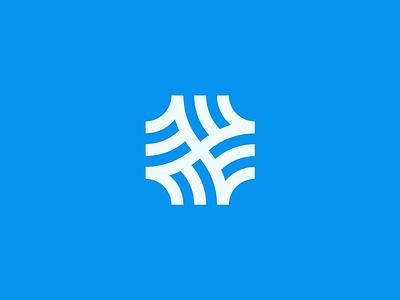 Crossroads Mark vector app icon line minimal logo
