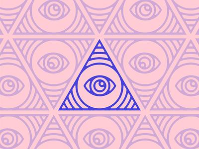 Eye of Providence illuminati providence eye icon line minimal logo