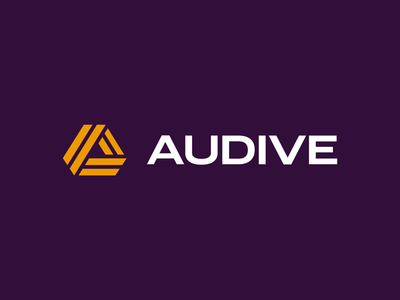 Audive Logo Exploration icon line geometric purple audive minimal logo