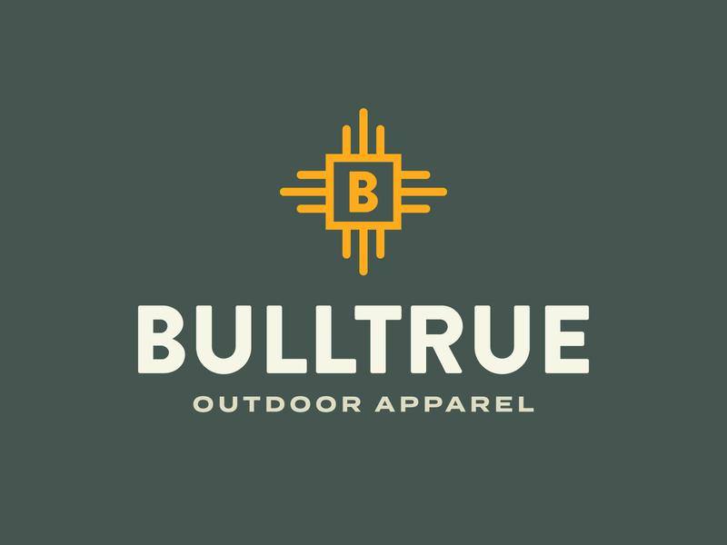Bulltrue Logo fashion apparel outdoor illustration design typography vector logo design branding monogram line art line icon minimal logo