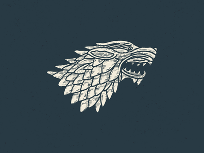 Game of Thrones Illustration got game of thrones wolf stark drawing sketch procreate illustration