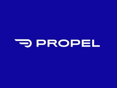 Propel Logo Concept brand apparel athletic sports monoline icon line minimal logo