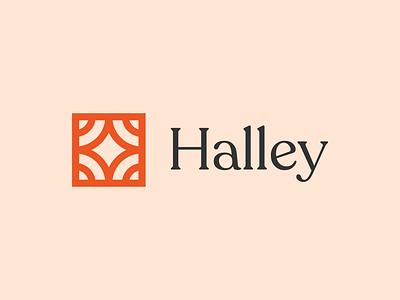 Halley Logo identity brand clothing retail icon line minimal design logo fashion
