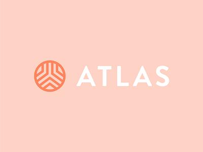 Atlas Logo retail clothing fashion globe atlas monoline line icon design minimal logo