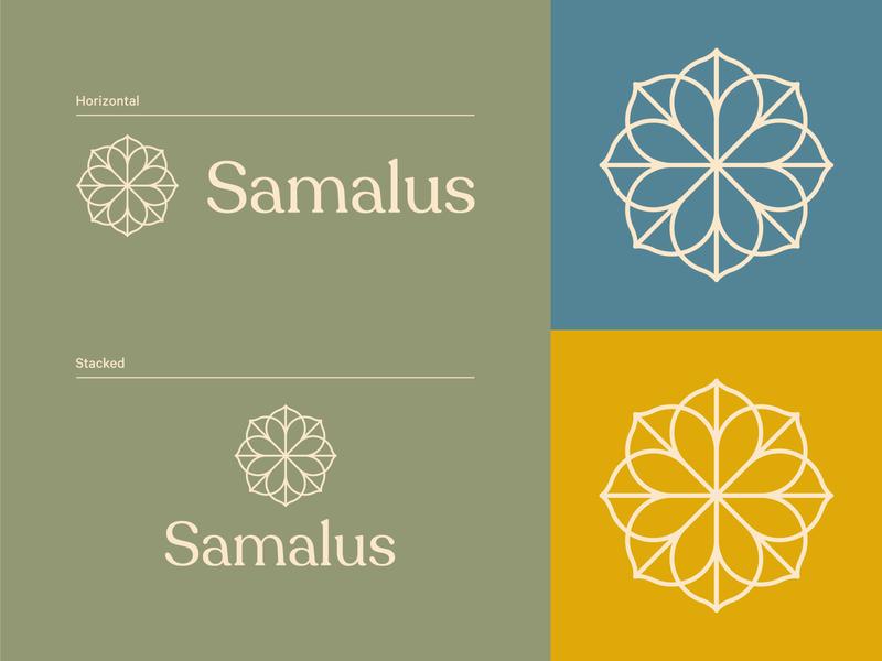Samalus Brand Identity logo design geometric branding monoline monogram line art line icon minimal logo