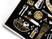 Golden Pizza Foil Print