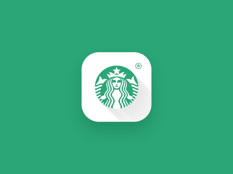 Starbucks app icon green starbucks dailyui