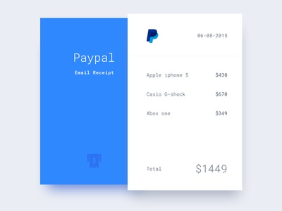 Email receipt - concept
