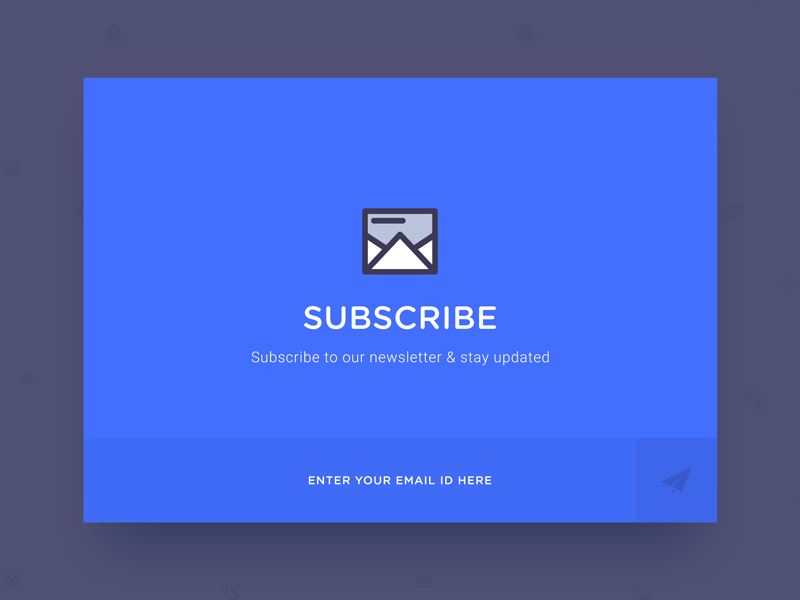 Subscribe designer minimal newsletter subscribe blue day26 dailyui