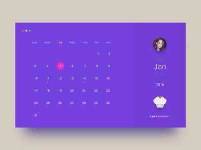 Calendar clean concept calendar shadow diffuse day38 dailyui
