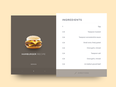 Recipe concept brown diffuse shadow burger food recipe day40 dailyui