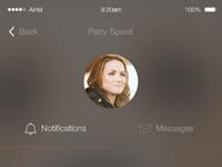 Notification screen