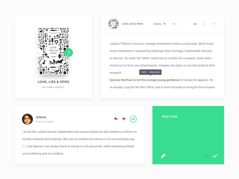 Coco UI Kit - Freebie Vol 4 uikit ui kit psd freebie elements free lite green subtle clean minimal