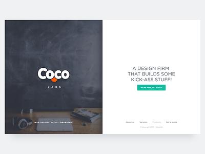 Cocolabs screen split launch ui design web agency studio website firm cocolabs