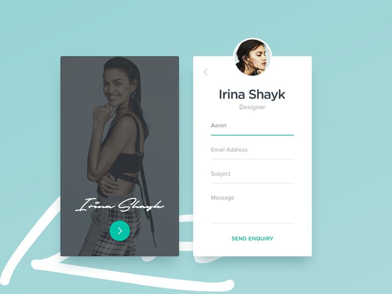 Profile contact designer clean ux form minimal card ui 59 dailyui contact profile