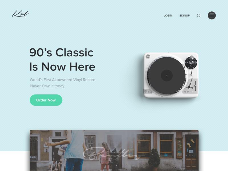 Landing page designer dailyui minimal clean ui design web homepage website landing