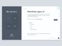 Krt - Journal screen