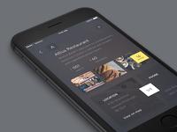 iOS Restaurant profile dark