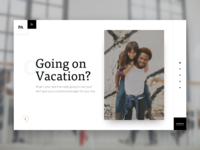 Vacation planner - Landing page
