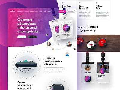 Loopd Homepage - Real Project webpage website site minimal vibrant fresh gradient landing homepage designer loopd