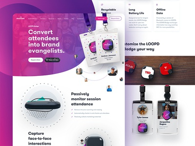 Loopd Homepage - Real Project webpage website site minimal vibrant fresh gradient landing homepage designer loopd