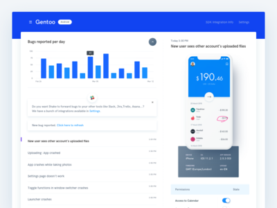 Dashboard - Real project